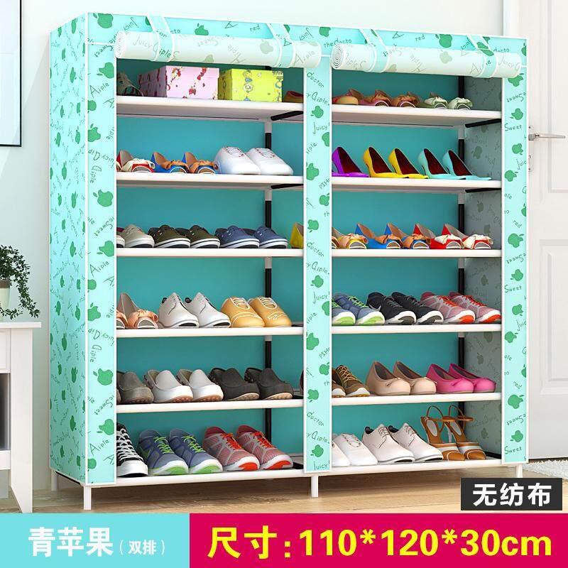 LEHUOSHIGUANG Simple Shoe Cabinet Shoe Rack Multilayer Iron Art Household  Storage Dustproof Multi-functional Cloth Shoe Ark Economy