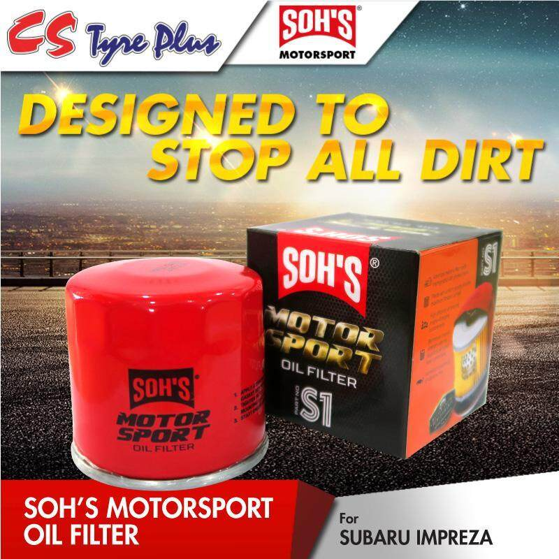 Sohs Motor Sport Oil Filter For Subaru Impreza By Cs Tyre Plus (m) Sdn Bhd.