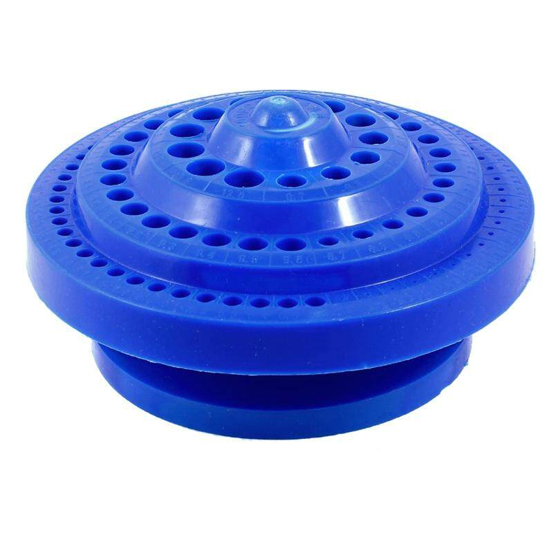 Round Shape Plastic Hard Drill Bit Storage Case - Blue