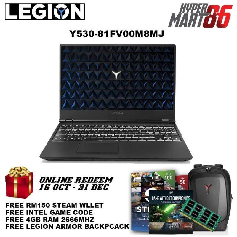 Lenovo Legion Y530-15ICH 81FV00M8MJ Gaming Notebook (15.6inch/I7/8GB/1TB+128GB/GTX1050TI 4GB) Malaysia