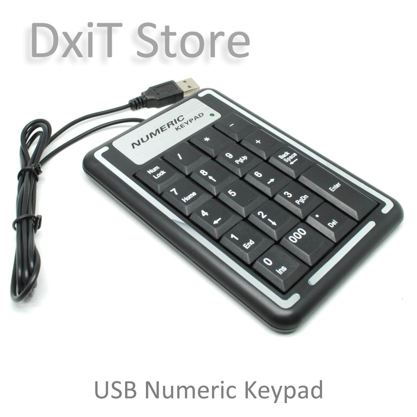 USB Numeric Keypad for Laptop Desktop Malaysia