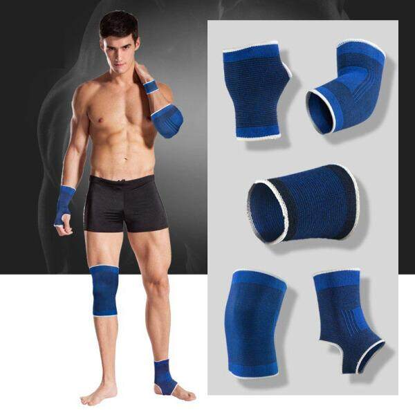 【Acupuncture  knee pads 】Basketball Sports Equipment Bracers Bracers Kneepads Elbow Elbow Fitness Training Sports Safety Warm suit Men and women