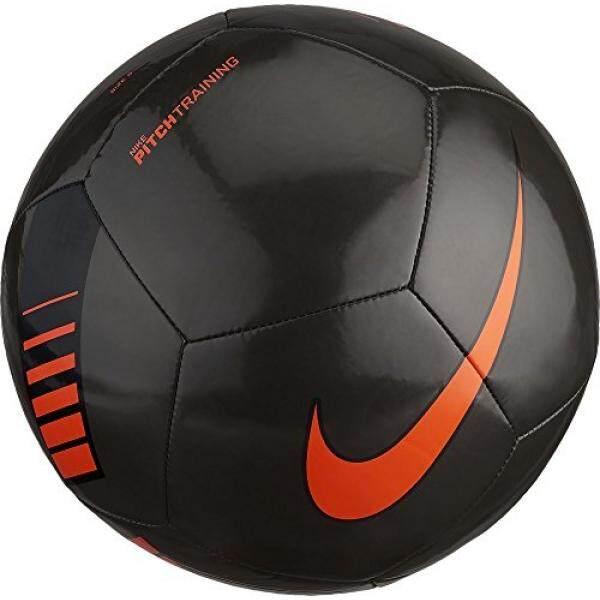 33a518cbaacdf NIKE Pitch Training Soccer Ball Metallic Black Total Orange Size Size Three  Ball