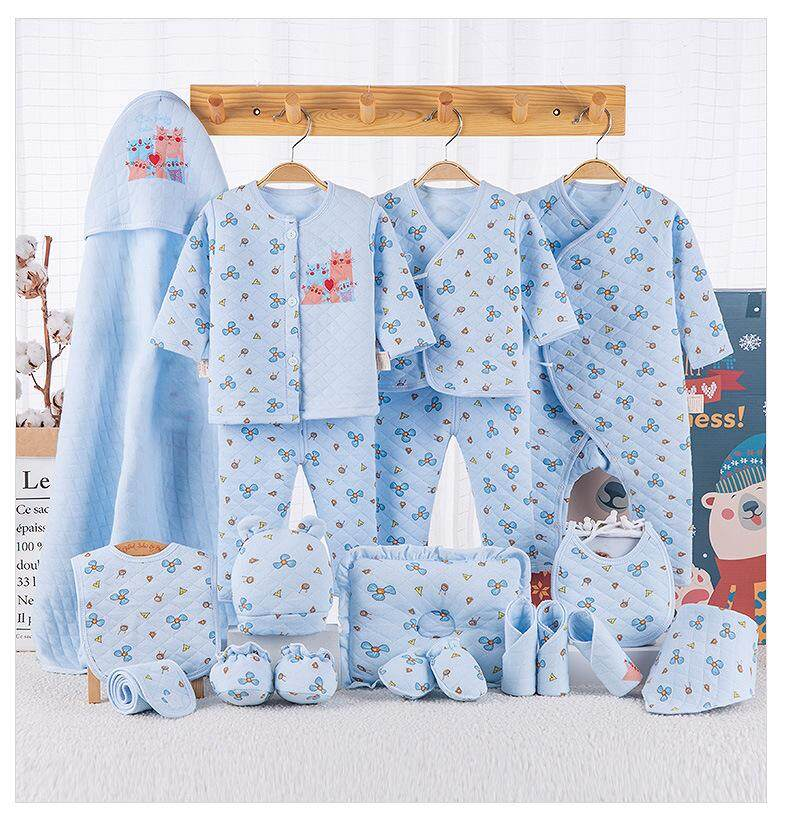 ce1e281f0fe91 19pcs/set Cotton Newborn Baby girl winter clothes Baby warm clothes set  Cartoon Gift 0