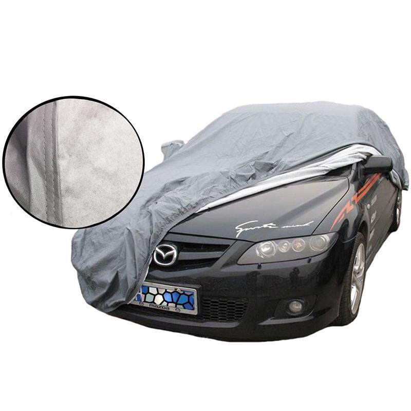 Waterproof Medium 2 Layer Full Car Cover Breathable UV Protect Indoor Outdoor