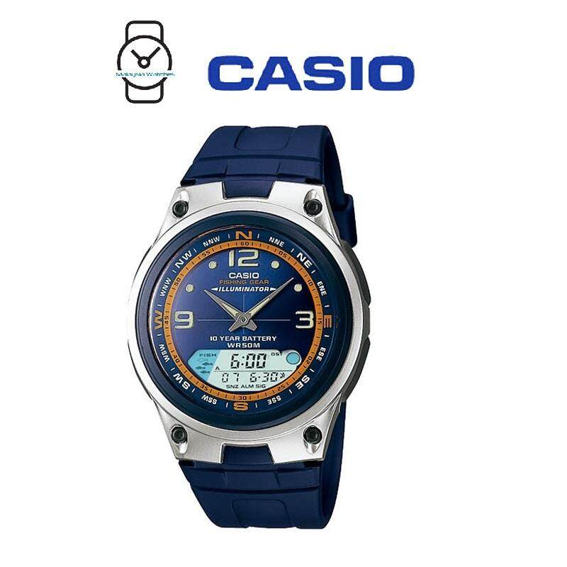 Casio AW-82-2AVDF Illumination Fishing Gear 10 YEARS BATTERY Navy Blue Resin Watch (Free Shipping) Malaysia