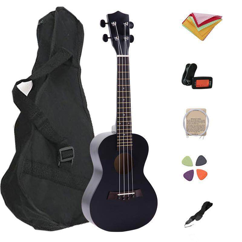 Ukulele for Beginners 23 Inch with Case Tuner String Pick Strap and Polishing Cloth Malaysia