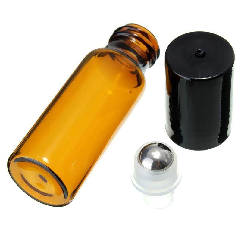 10 Pcs 10ml Glass Metal Steel Ball Roller Bottles Perfume Essential Oil By Tobbehere.