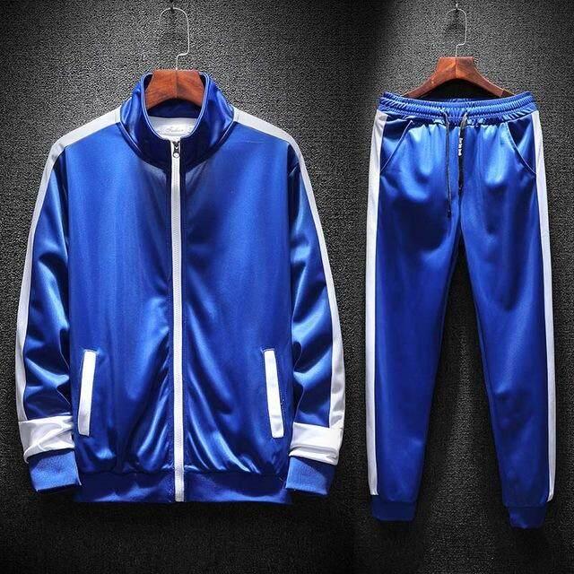 9bc345ec6f Men Sportswear Jackets + pants 2PCS Sets Casual Tracksuit Male 2019 Autumn  Two Pieces Fashion Zipper