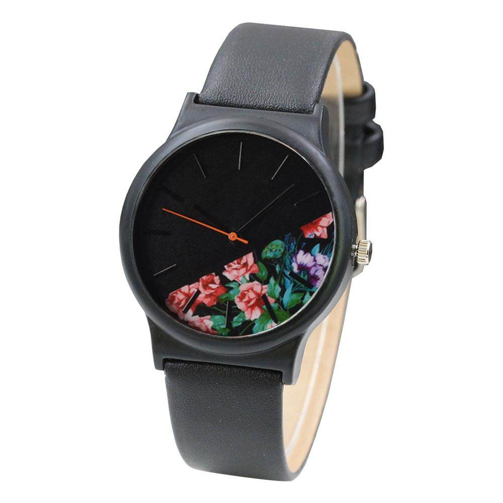 Fashion Women Leather Analog Quartz Sport Wrist Watch Malaysia