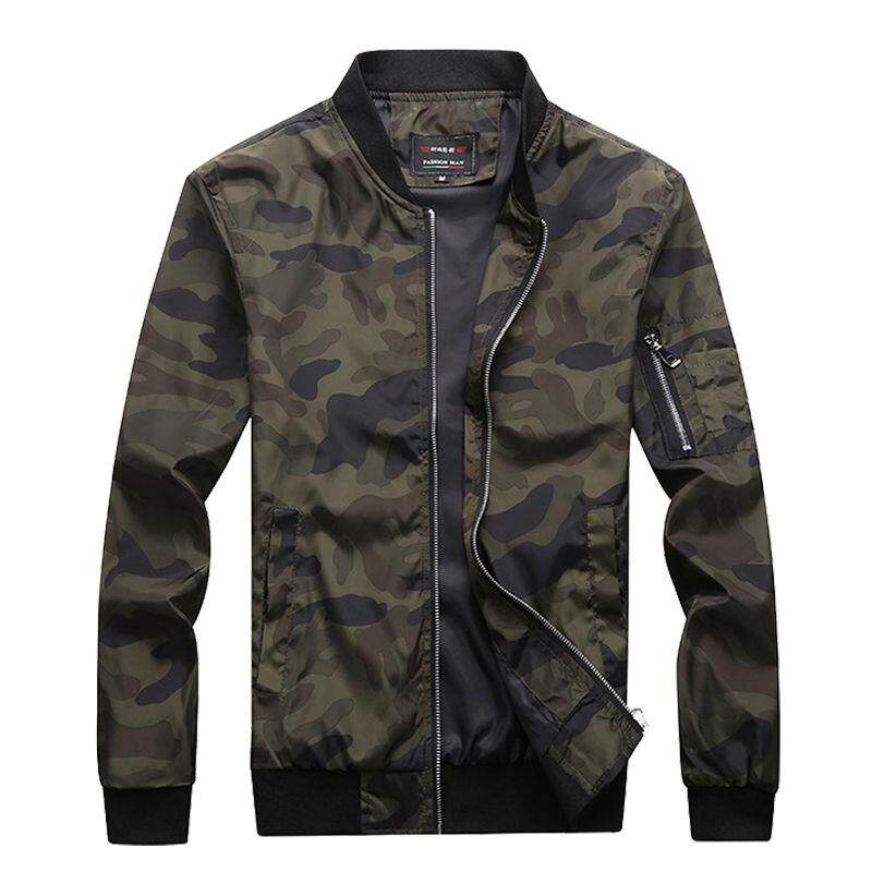 c13f34b986f81 ZZOOI M-7xl 2018 New Autumn Men S Camouflage Jackets Male Coats Camo Bomber  Jacket
