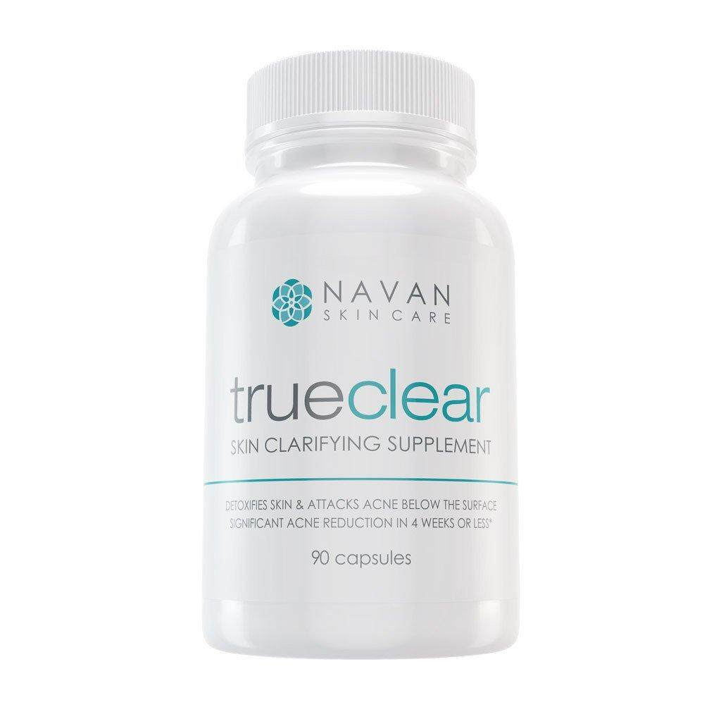 Navan Truclear Skin Clarifying Acne Supplement 90 capsules amade with Milk  Thistle, Green Tea, Witch Hazel, Vitamins A and C, Biotin and Zinc