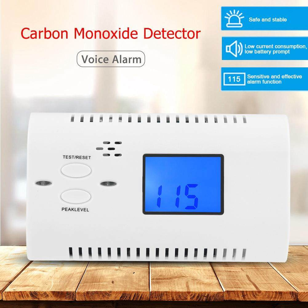 DC9V Voice Prompt Carbon Monoxide CO Alarm Monitor Detector for Home Security