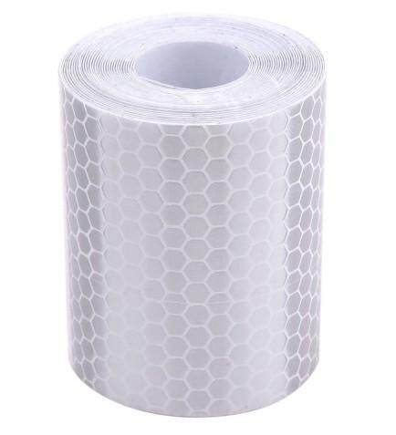 3m Silver White Reflective Sticker 5 cm Width Safety Warning Tape Stickers