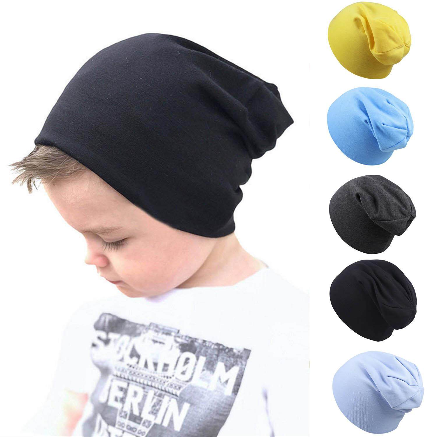 4c720e478cc79 5pcs Assorted Colors Soft Cute Toddler Baby Cotton Knit Hat Beanies Cap for Baby  Girls Infants