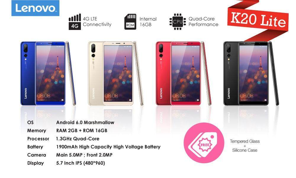 ... 16GB 4G LTE White Free Flip cover original. Source · Jual Beli Baru Flip Cover For Lenovo A7700 Original Source · Lenovo K20 Lite 2GB Ram