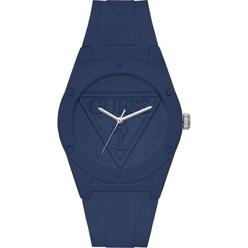Guess W0979L4 Unisex Retro Pop Blue Silicone Strap Watch