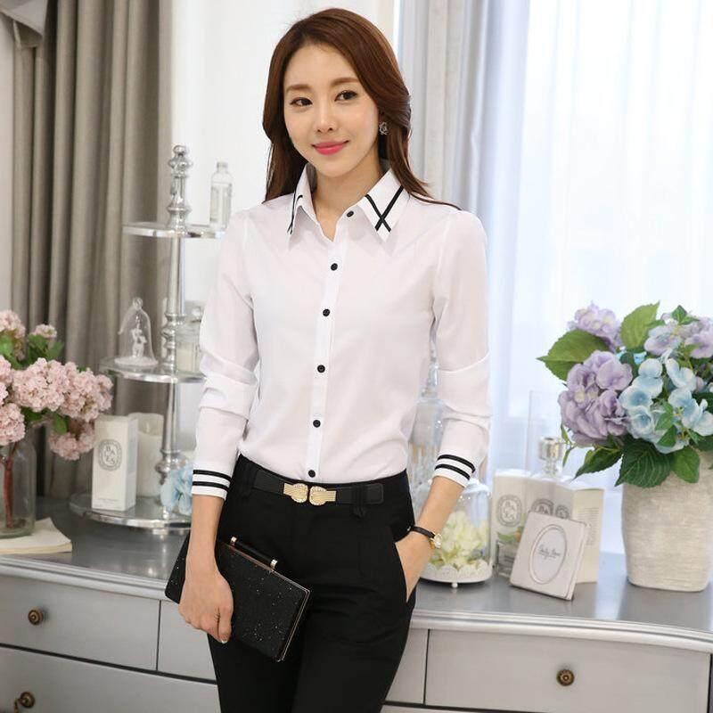 7468c9f0b10189 Fashion Work Wear Women Shirt Chiffon Femininas Tops Elegant Ladies Formal Office  Blouse