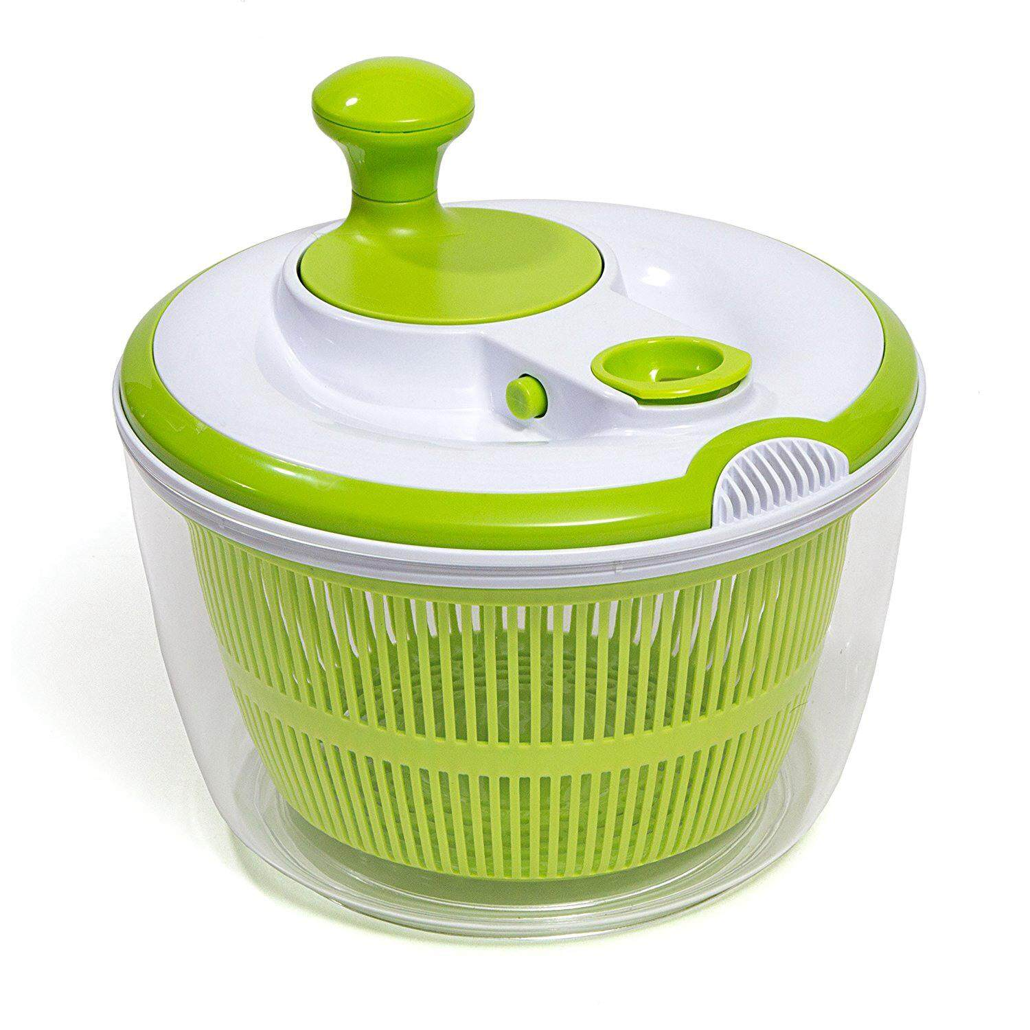 Manual Vegetable Dehydrator Basket Washer Fruits Salad Lettuce Spinner Strainer Kitchen Gadget By Yoyonow.