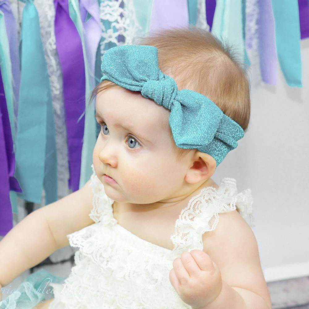 Myapple 1Pc Cute Baby Toddler Infant Bowknot Headband Stretch Hairband Headwear