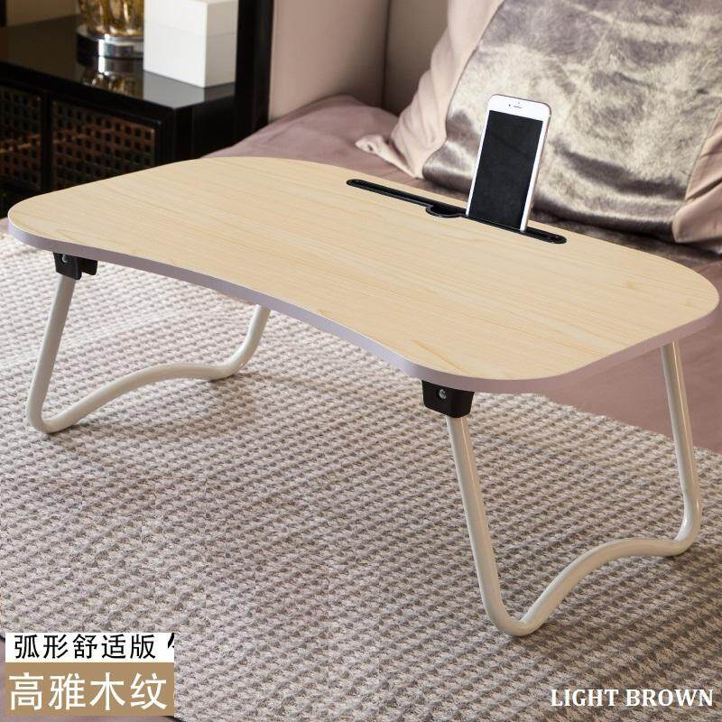 Quality Simple Foldable On Bed Laptop Table Desk Computer Ipad Slot Portable