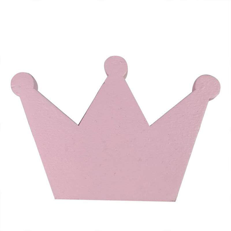 Cute Wooden Clothes Hook For Kids Room Wall Decorate Children Room Hanger Hook, Pink crown