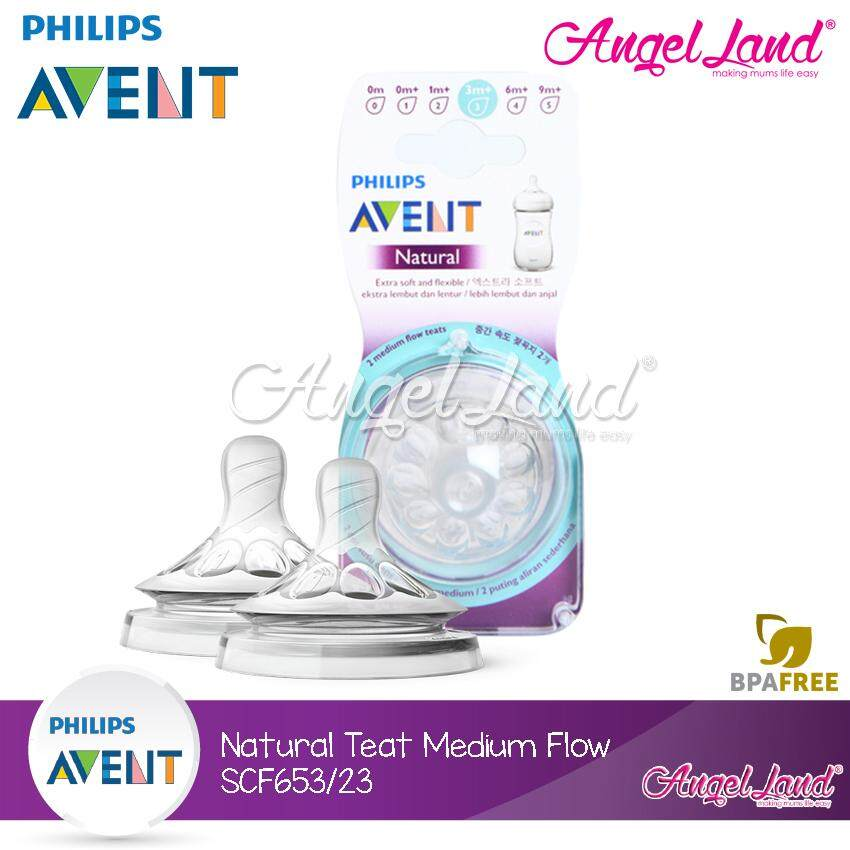 Philips Avent SCF653/23 Natural Medium Flow Teat 3m+ (3 Hole) *New