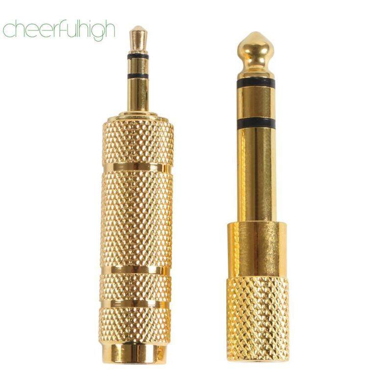 [NEW]Gold 3.5mm to 6.5mm Female to Male Stereo Headphone Jack Audio Adapter Kit Malaysia