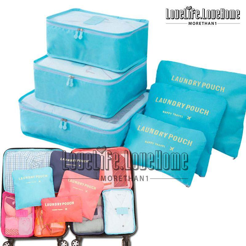 6915e632c4f5 Travel 6 in 1 Clothes Storage Bags Packing Cube Travel Luggage Organizer  Bag Travel Packing Pouches Multi-functional Clothing Sorting Packages