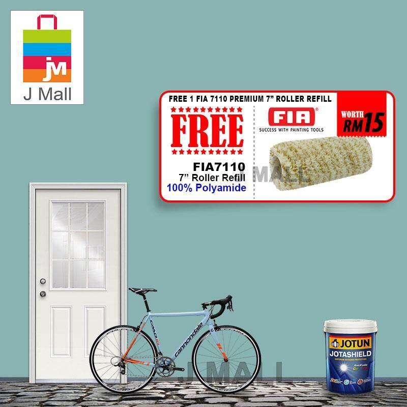 Jotun Jotashield Antifade Colours Exterior Pale Teal 5043 - 5L [ + Free Gift 1pc FIA 7110 Premium 7 Roller Refill ]