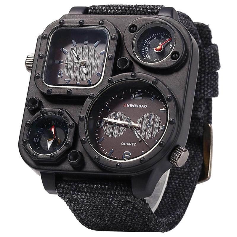 [CNY 2020] SHIWEIBAO Men Dual Time Zone Quartz Wrist Watch with Compass Malaysia
