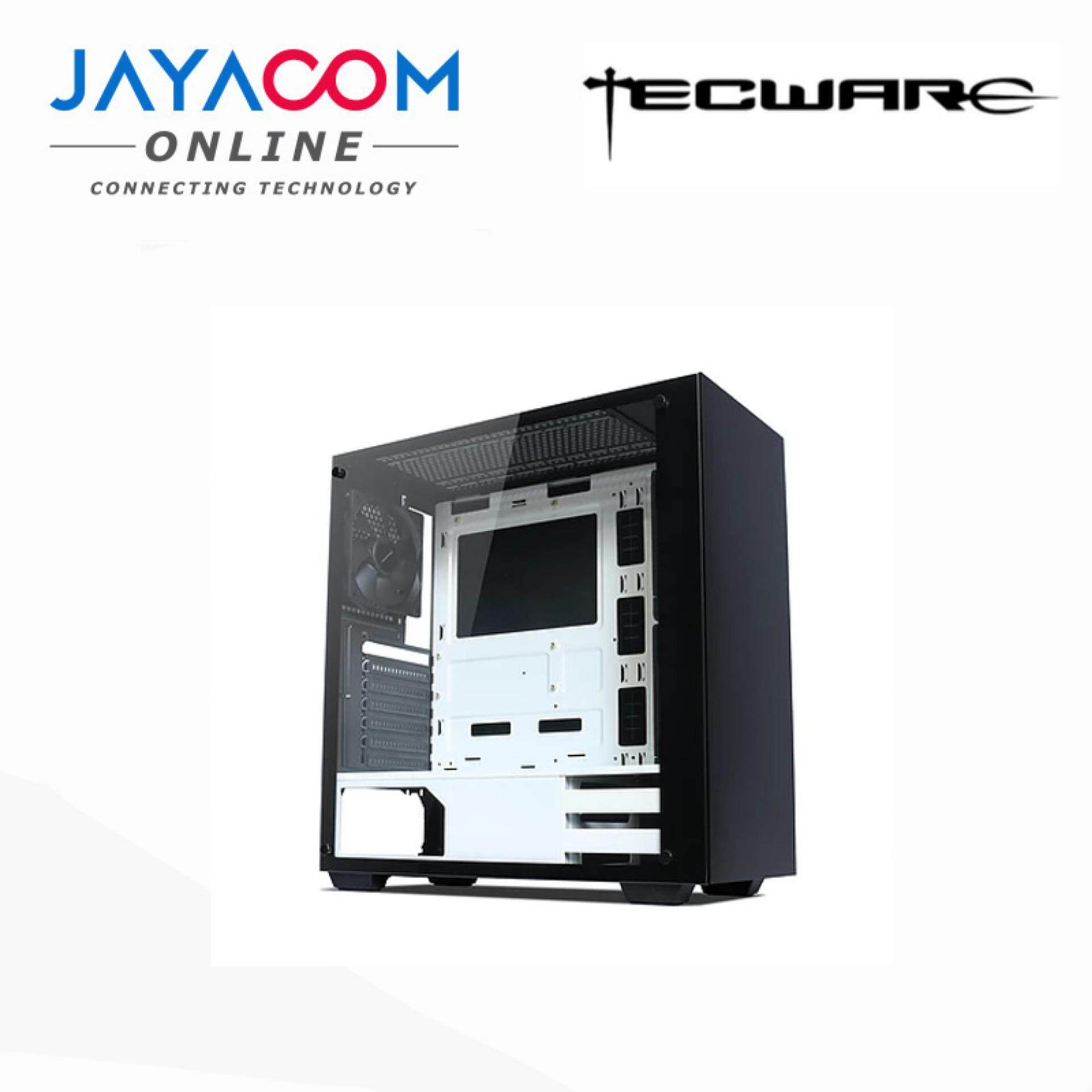 TECWARE NEXUS M TG ATX GAMING CASING BLACK/WHITE Malaysia