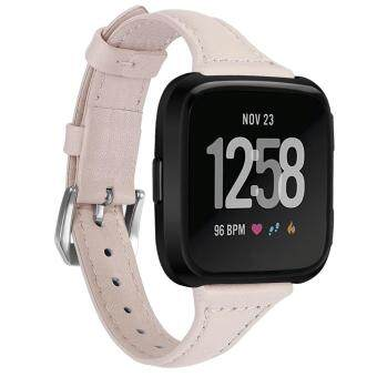 Malloryshop bluetooth Touch ScreenLuxury Leather Bands Replacement Wristband Accessories Straps For Fitbit Versa
