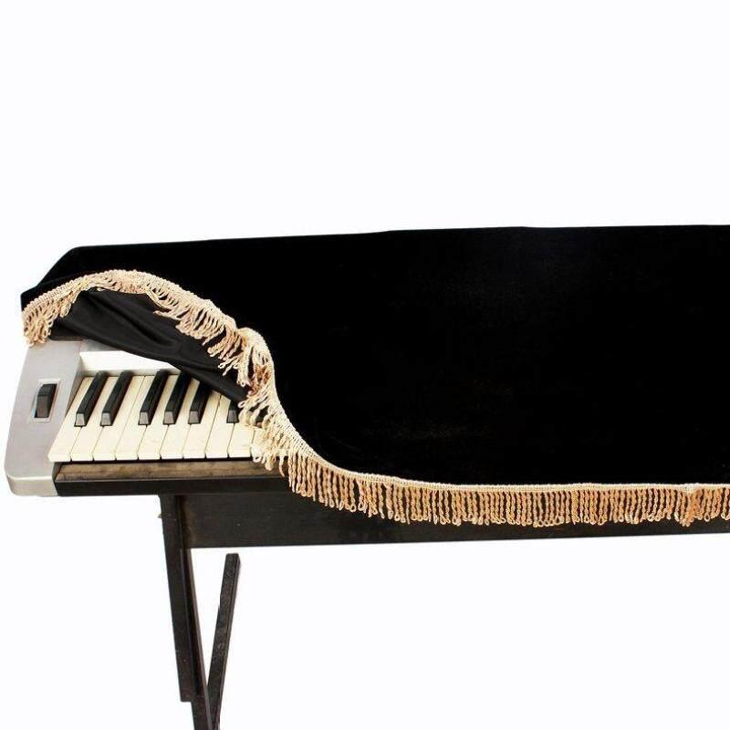 EVOL 1PC 61-Key Electronic Piano Keyboard Cover Protective Pleuche Design Black Malaysia