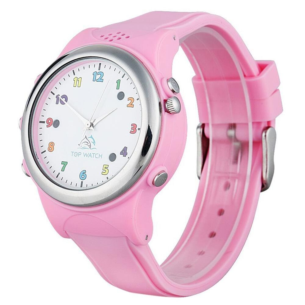 Top Watch Kids Smart watch Wristwatch GPS LBS Double Location Safe Children Watch Activity Tracker SOS Call SIM Card for Android and IOS (Pink) Malaysia