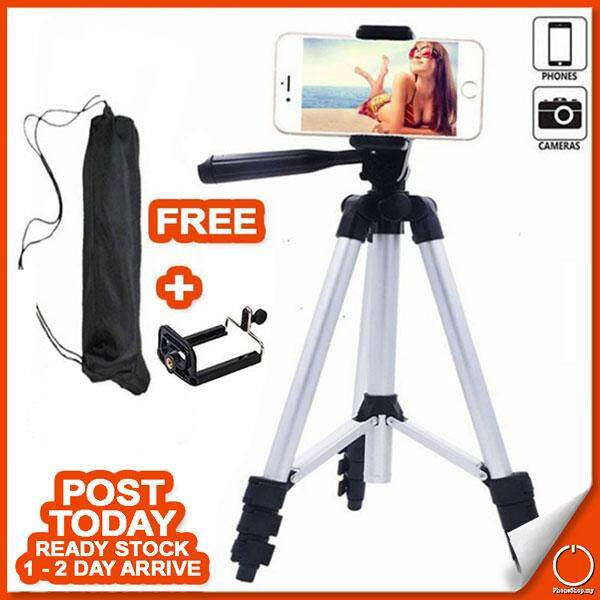 Portable Lightweight 3110 360 Degree Tripod Stand Mount For Phone + Bubble Level By Phone Shop Dot My.