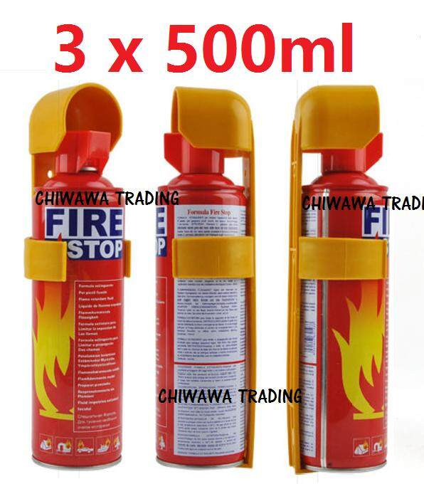 ORIGINAL 【Set of 3】- 500ml Portable Instant Fire Extinguisher Fire Stop Foam for automotive Car & Home Dual Use.