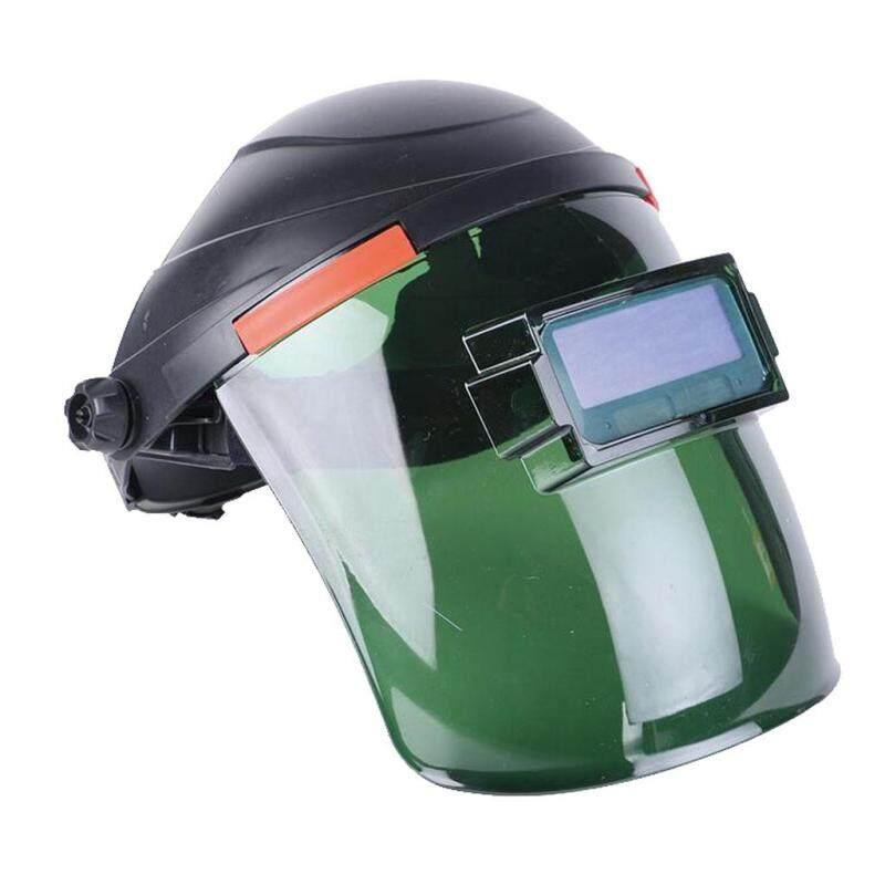 MagiDeal Solar Power Auto Darkening Full Face Shield Safety Helmet Visor Mask