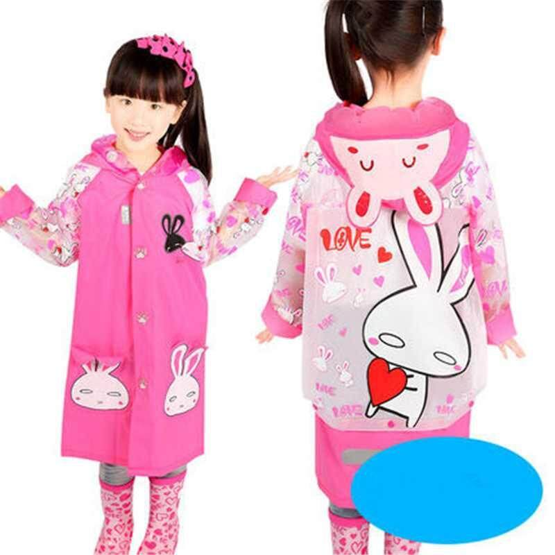 Waterproof Kids Boys Girls Cute Raincoat Kindergarten Children Cartoon Outdoor Tasteless Rain Coat Without Rainshoes A002273-2277 By Xinyuan Store.