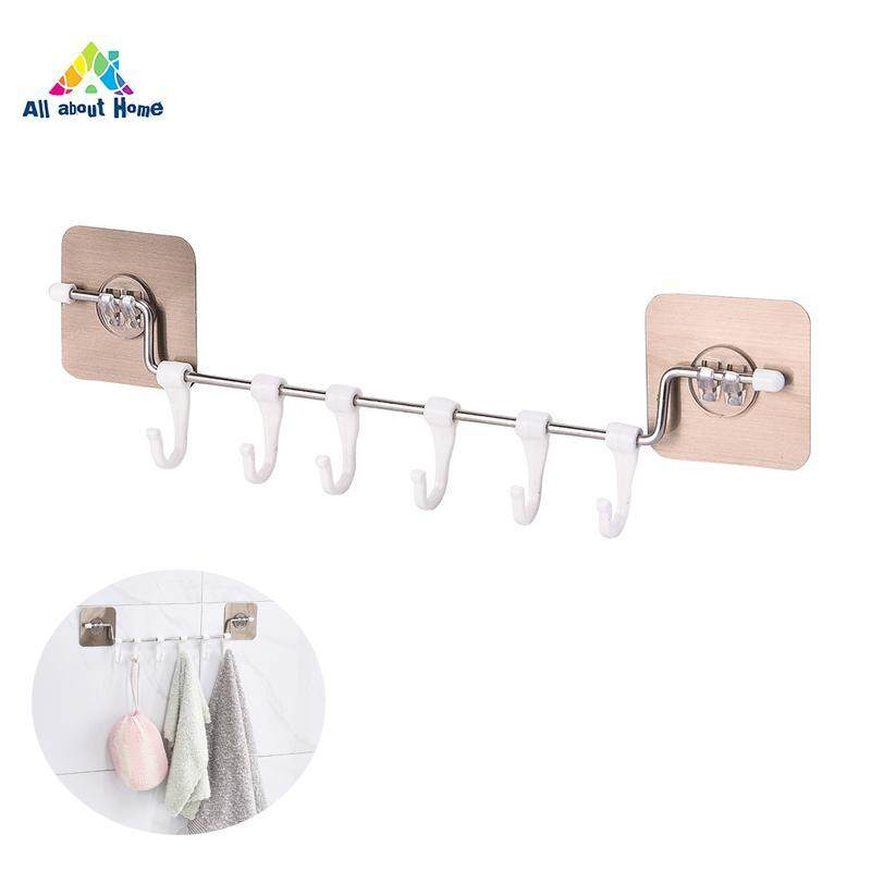 ABH Multi-purpose Rustproof Stainless Steel Hanger Hooks Bathroom Hanger