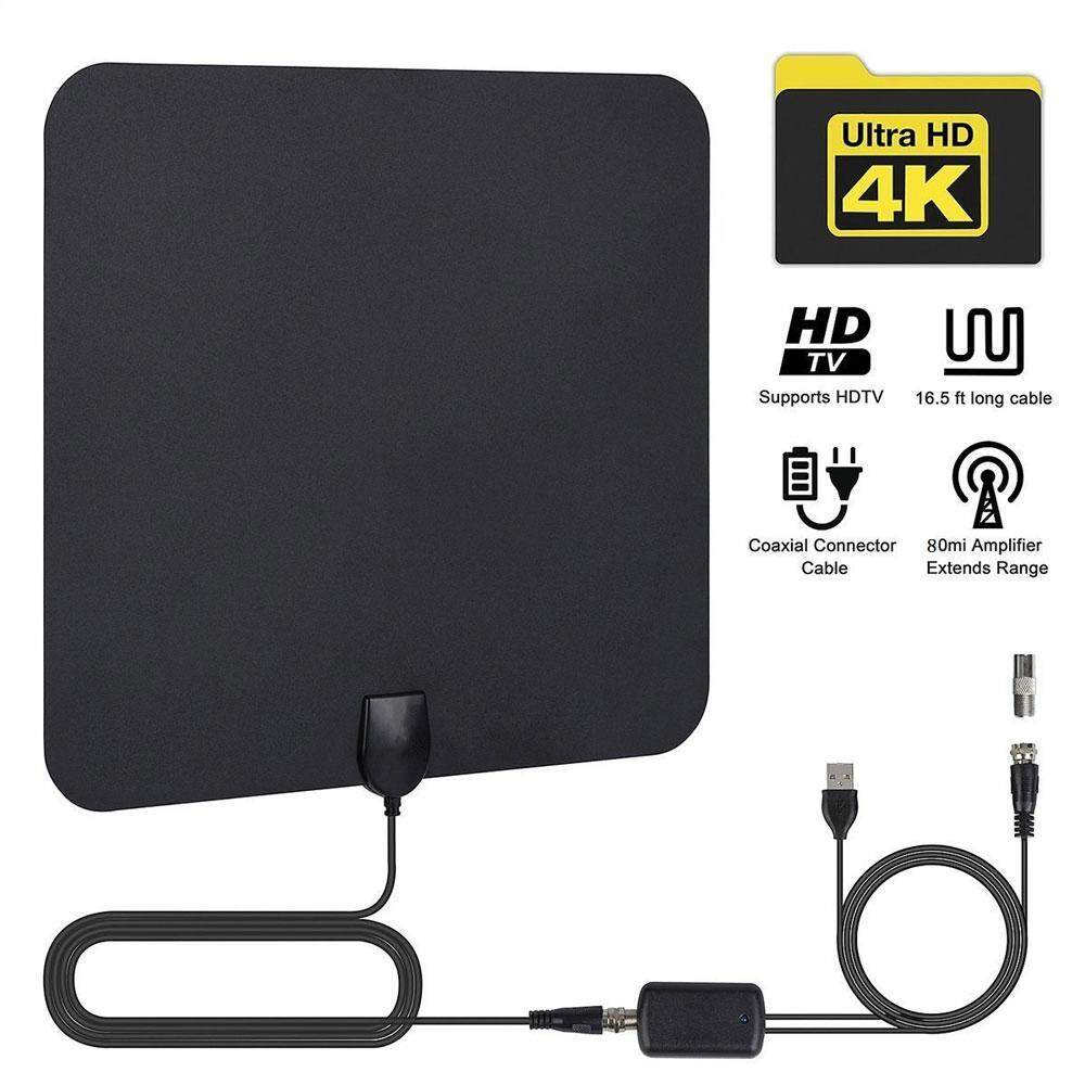 Tv Antennas For The Best Price In Malaysia 5 Watt Uhf Amplifier Hdtv Antenna Indoor Amplified 60 90