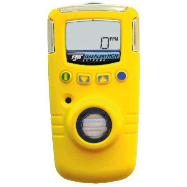 BW Technologies GAXT-Z-DL GasAlert Extreme Hydrogen Cyanide (HCN) Single Gas Detector, 0-30.0 ppm Measuring Range, Yellow