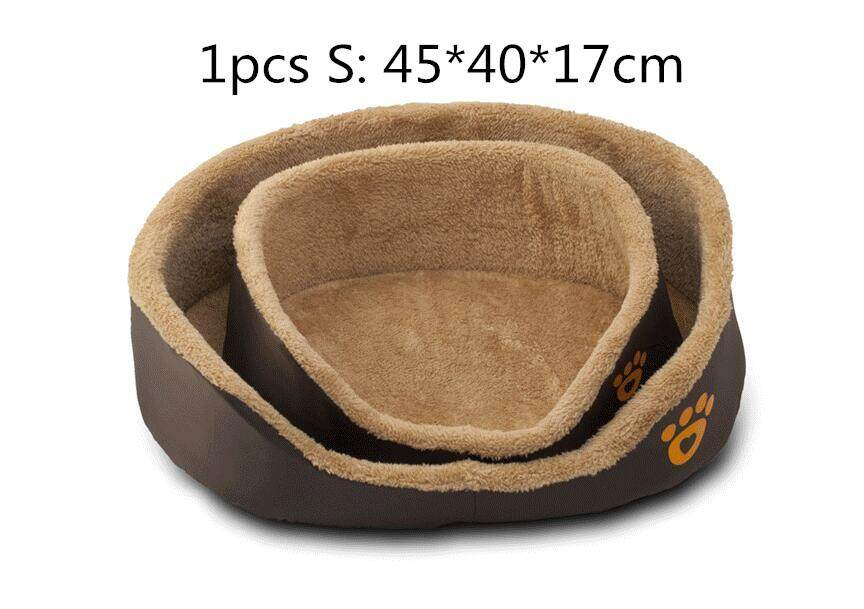 Round Pet Nest Dog Cat Bed Autumn and Winter Sleeping Soft Supplies Size M S