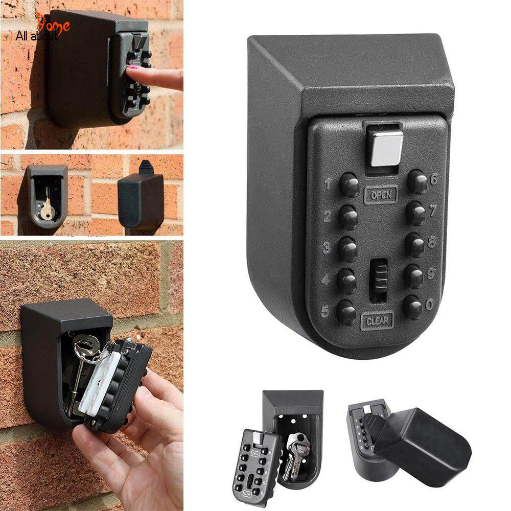 ABH Key Safe Box Aluminium Alloy Wall Mounted Password Security Boxes with Code