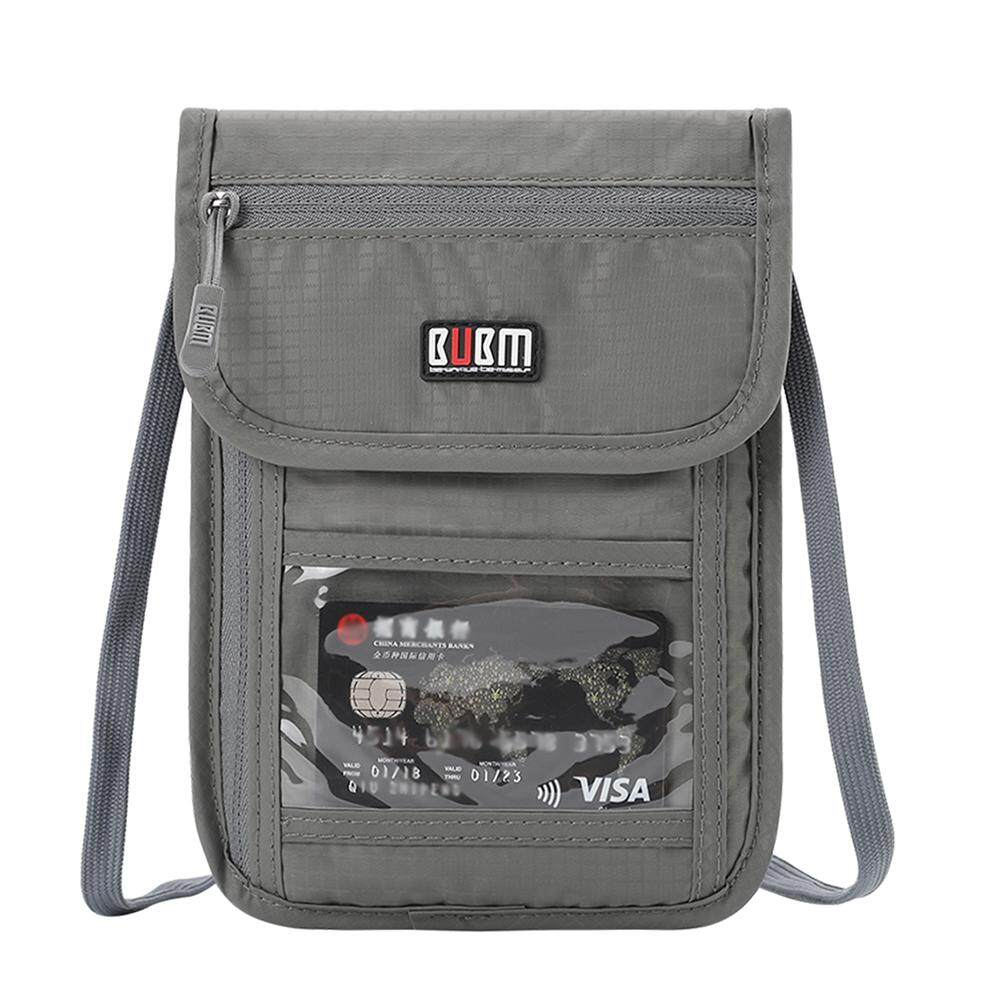 605e7db46645 BUBM Neck Wallet Travel Neck Pouch with RFID Blocking Family Passport Holder  with Strap to Keep