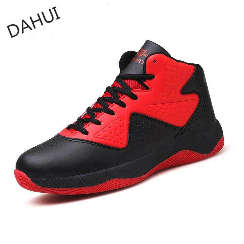 74f66aafe996 Men Basketball Shoes Breathable Athletic Ankle Boots Tech Training Sneakers  (Red)