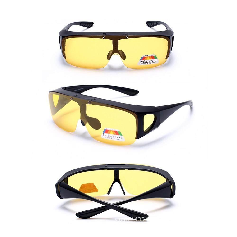 2f411c07391 4GL FUO Polarized Flip UP Fit Over Overlap Sunglasses (UV400)