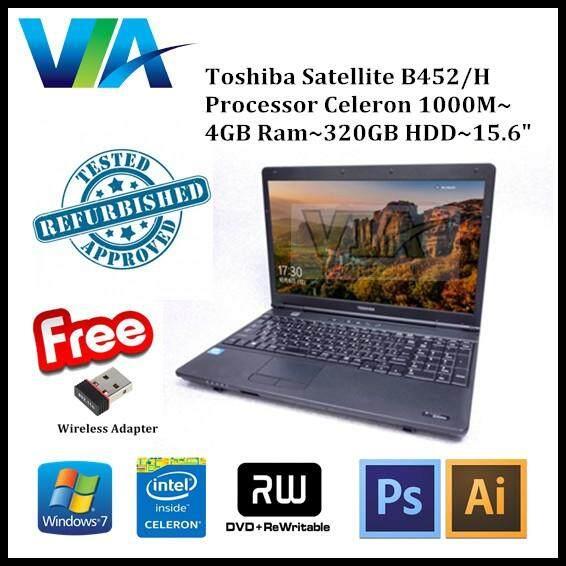 Refurbished Laptop Toshiba B452/H Celeron~2GB~320GB~Win7 Pro Malaysia