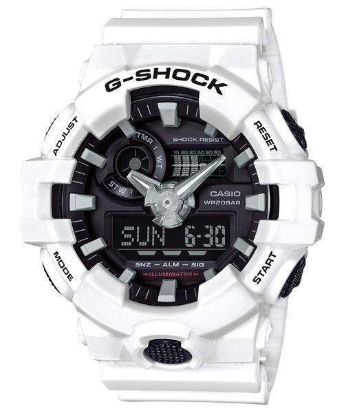 Casio G-Shock GA-700-7A Mens Watch (White)