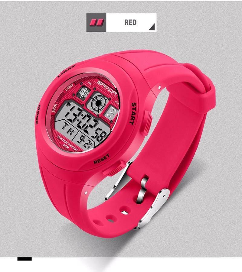 2018 SANDA 331 Brand Children Watches LED Digital Multifunctional Waterproof Wristwatches Outdoor Sports Watches for Kids Boy Girls Malaysia